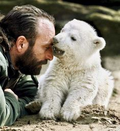 Looking Thru My Memories For This Day And Saw This... Knut The Polar Bear ~ December 5, 2006 - March 19, 2011  Such A Sad Memory... Born At The Berlin Zoological Garden, Berlin, Germany Rejected by His Mother And Raised By This Man..