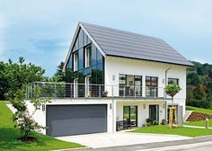 Bildergebnis für haus am hang garage Modern Barn, Modern Farmhouse, House Cladding, Hillside House, House Viewing, Mansions Homes, Modern House Plans, House Goals, Home Fashion