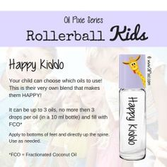 Happy, Rollerball blends for kids, essential oils