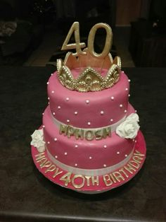 40th birthday cake Brithday Cake, 40th Birthday Cakes, Birthday Parties, 40 Years Old, Amy, Party Ideas, Desserts, Food, Anniversary Parties