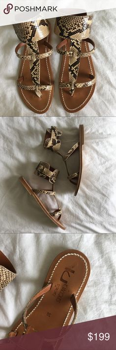 K. Jacques Saint Tropez Caravelle Python sandal Uuuhhh-mazingly stunning sandals with quality that will last! These beauties are hardly worn and in immaculate condition. See photos and ask questions! *last picture is different color but same style* K. Jaques Saint Tropez Shoes Sandals