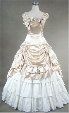Champagne White Gothic Victorian Ball Gown Punk by procosplay, $95.00