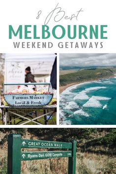 If you're looking to get out of the city in Melbourne, check out these amazing weekend getaway ideas. Drive along the beautiful southern coastline of Australia or taste chardonnay in one of the country's best wine regions with these Victoria, Australia travel ideas. #melbourne #australia #victoria #travelaustralia #roadtrip #greatoceanroad Australia Holidays, Australia Beach, Victoria Australia, Melbourne Australia, Australia Travel, Travel Expert, Travel Advice, Travel Ideas, Travel Tips