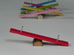 Fairy Garden Miniature Teeter Totter ONE SMALL for miniature garden or terrarium by TheLittleHedgerow on Etsy https://www.etsy.com/listing/159770853/fairy-garden-miniature-teeter-totter-one