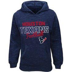 NFL Girls Texans Burnout Team Hooded Fleece, Size: Medium, Blue