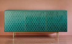 Bethan Gray bases brass-patterned furniture on the architecture of Oman Nizwa cabinet Luxury Furniture, Cool Furniture, Painted Furniture, Modern Furniture, Furniture Design, Furniture Stores, Office Furniture, Bedroom Furniture, Handmade Furniture