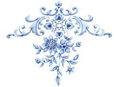 vintage floral stencil