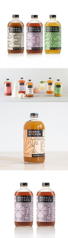 We Love The Fun Linework Illustrations For These Cocktail Mix Labels — The Dieline | Packaging & Branding Design & Innovation News