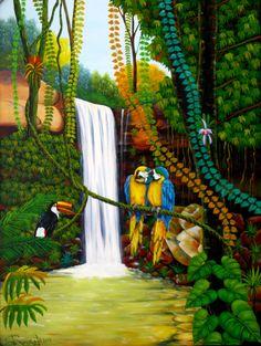 selva-tropical-pintura.jpg (800×1062) Pintor colombiano Efrain Rengifo