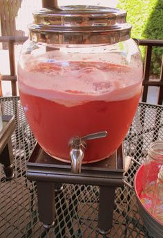 Party Punch ~ 2 liter of Ginger Ale, 1/2 gallon of Rainbow Sherbet, 2 liter of Hawaiian Punch