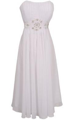 ba162f7a3a Strapless Chiffon Goddess Gown Prom Dress Formal KneeLength Junior Plus  Size