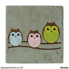 Animated Owls Trivets