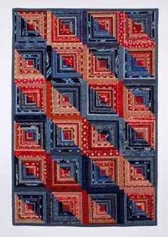 Q-BITS: Cotton Quilts | LOG CABIN QUILTS | Pinterest | Quilt ... : free denim quilt patterns - Adamdwight.com