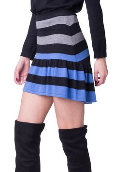 e461475768 BEAYUKMUI Cashmere & Wool Gathered Hem Skirt Size 42 / S Striped RRP 179  #fashion #clothing #shoes #accessories #womensclothing #skirts (ebay link)