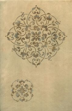 Wall Stencils | Floral Medallion Set B | Royal Design Studio