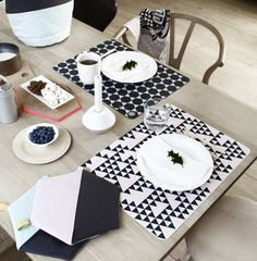 OYOY Living Design is another brilliant Danish design company, much like Ferm Living that I am obsessed with. Danish Interior Design, Interior Design Companies, Danish Design, Grey Placemats, Placemat Sets, Deco Table, A Table, Dinner Table, 2nd Hand Furniture