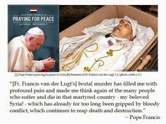 Pope Francis' Cri-de-Coeur on Syrian Slaying