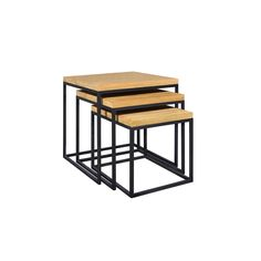 Industrial style Inca nest of tables from The Range.