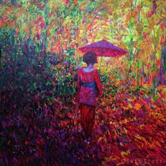 Geishat<Iris Scott<oil finger painting