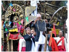 Machhindranath Bhoto Jatra Lalitpur, June 6: The Chariot procession of Rato Machchindranath, revered as the God of rain, is coming to an end on Friday with the display of the Bhoto or jewel studded vest.