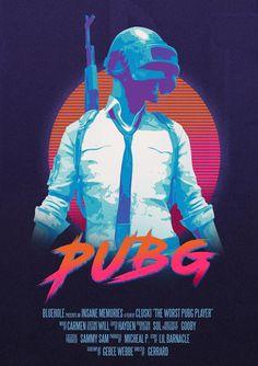 PUBG Retro Video game artwork home decoration poster