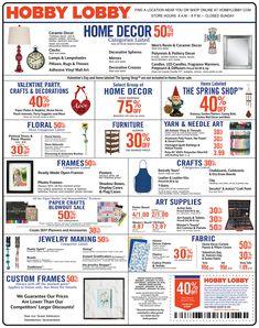 Weekly Ad Hobby lobby weekly ad, Hobby lobby, Hobby