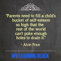 How's your child's bucket of self-esteem?