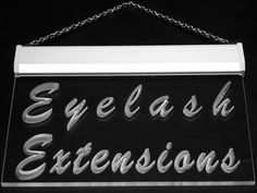Multi Color i885-c Eyelash Extensions Beauty Salon Neon LED Sign with Remote Control, 20 Colors, 19 Dynamic Modes, Speed & Brightness Adjustable, Demo Mode, Auto Save Function