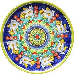 Wall Plate Rinascimento Italian Pottery by FerrignoCeramiche, €99.00