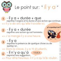 """La classe de Fabienne: L'expression """"il y a"""""""