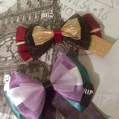 Halloween Disney Bows. New to the shop