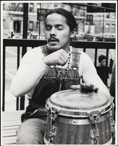 Long-haired drummer, Puerto Rican, Second Avenue and 95th St.