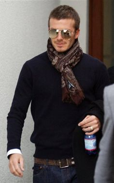 Guys, you can wear scarves, too. David's SWAG!