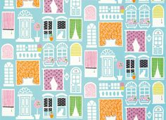 Designers Guild - Fabrics & Wallpaper Collections  Two favorites, a cat in the window and black and white polka dots.