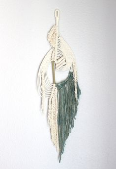 """Macrame Wall Hanging """"Liquid no.4"""" by HIMO ART, One of a kind Handcrafted Macrame/Rope art"""