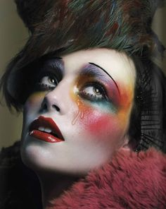 Her makeup inspires me to encourage her to get to a safe place and file charges.  Sofia Duran for El Fanzine Mag