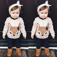 little fox kids & baby long sleeve shirt cool unisex clothing - this store has the coolest stuff