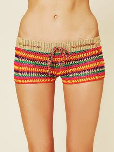 crochet mini boy shorts..i think these would be cute pajamas or bathing suit cover up