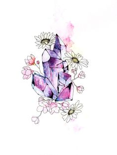 Daisy Crystals. Original Hand Drawn/Painted. by ArtLawOriginals, $50.00