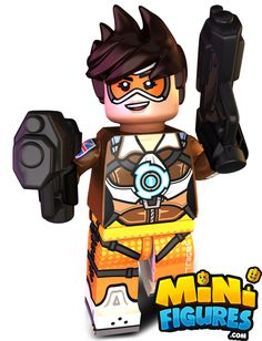 TRACER!!! New release from www.minifigures.com #overwatch #tracer #lego