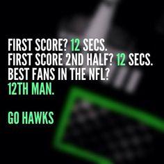 Go Hawks. Period.  - Brad Nolan — with Alohi Galase.