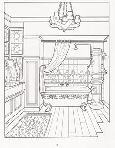The Victorian House Coloring Book  Art Adult Coloring Pages