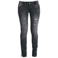 Rock Rebel by EMP ($55) ❤ liked on Polyvore featuring jeans, pants, bottoms, calças, rock rebel, slim skinny jeans, slim cut jeans, slim fit jeans and slim jeans