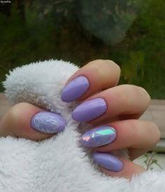 Nails, purple, shattered glass, nail art ;)