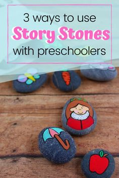 These DIY Alphabet Story Stones are easy to make and a fabulous resources to have on hand when teaching the alphabet to young kids. #storystones #storystonesideas #storystonesdiy #homeschoolprek