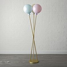 Shop Balloon Floor Lamp. No need to inflate our balloon floor lamp. Just turn it on and watch the acrylic balloons at the top light up for a playful piece of decor.