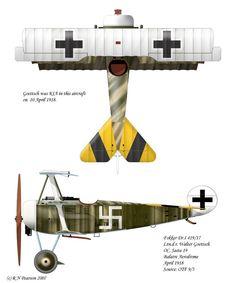 Fokker Dr.1 of Ltn.d.r Walter Göttsch, Jasta 19.
