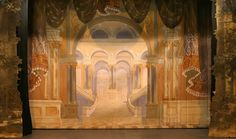 Edgar S. Paxson (1852-1919) painted six backdrops  in the late 1800's and early 1900's. http://www.operahousetheatre.com/img/BackdropStairs.jpg