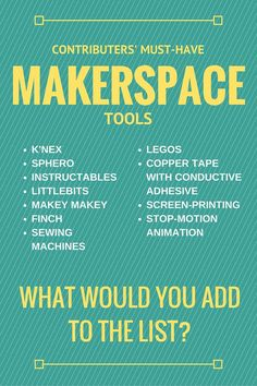 What library makerspace tools and activities will be the most effective and the most engaging for your users? Get the crowd-sourced answers!