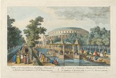 Print - A View of the Canal, Chinese Building, Rotunda,  in Ranelagh Gardens, with the Masquerade - Victoria & Albert Museum